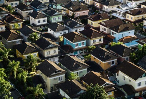 Arial shot of neighborhood.