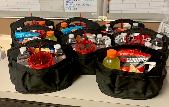 Goodie bags from Hilldrup Charlotte to Van Operators