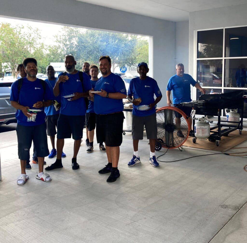 Hilldrup Orlando enjoys a cookout during Van Operator Appreciation Week 2021